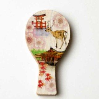 マグネット鳥居と鹿(さくら)