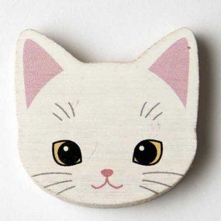 マグネット白猫