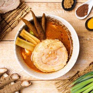 ほどけるくちどけ!トロトロ豚角煮スープカレー【600g×2個/2~4人前入り】