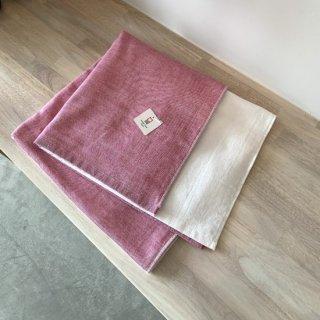 2トーンシャンブレー バスタオル(ピンク1)