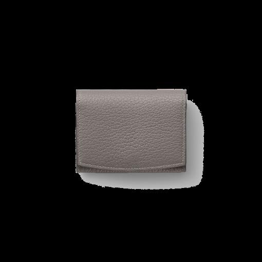 New Credit Card Coin Case2<br>French Crisp Calf×Lamb<br>Titanium×Orange