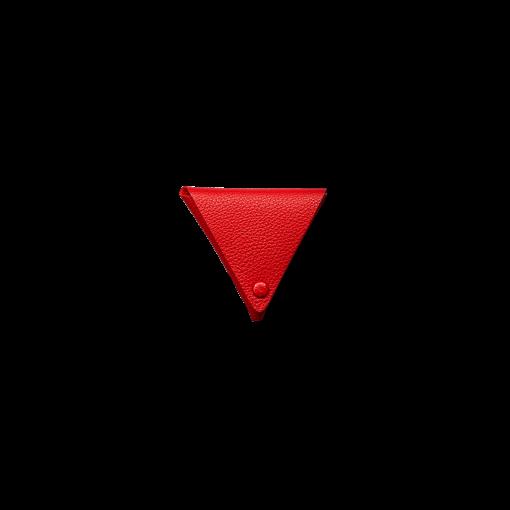 V Coin Case<br>German Shrunken Calf×Goat<br>Red×Orange