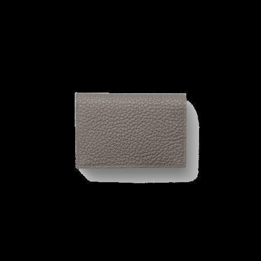Business Card Pouch Magnet<br>Shrink Calf<br>Titanium×Orange