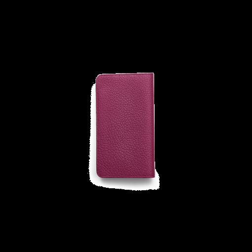 iPhone XS Max Combo Case<br>German Shrunken Calf×Lamb<br>Indian Pink×Pale Pink