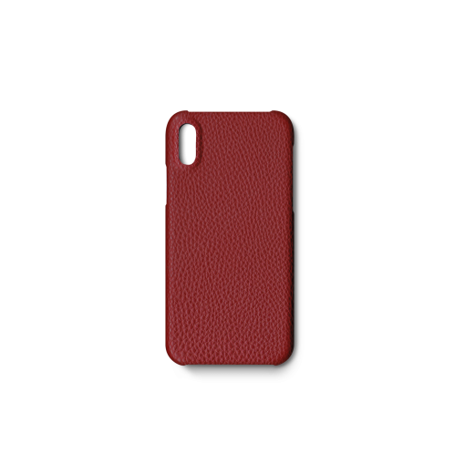 iPhone X&XS Case<br>German Shrunken Calf<br>Red
