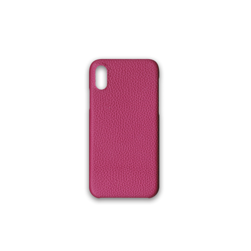 iPhone X&XS Case<br>German Shrunken Calf<br>Indian Pink