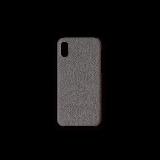 iPhone X&XS Case<br>German Shrunken Calf<br>Titanium