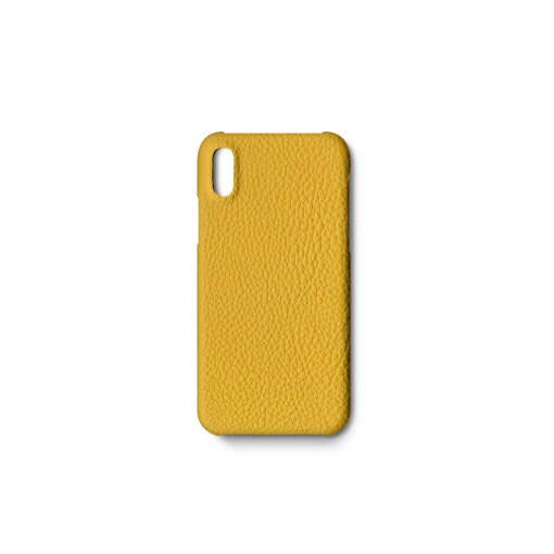 iPhone X&XS Case<br>German Shrunken Calf<br>Yellow