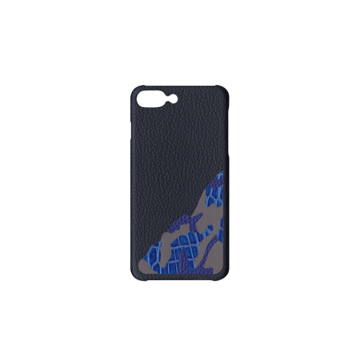 iPhone 7Plus&8Plus Case/SM<br>French Crisp Calf×Mississippi Alligator<br>Midnight Blue