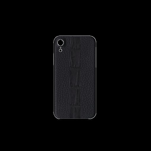 iPhone XR Case/ST<br>French Crisp Calf×Mississippi Alligator<br>Black×Black