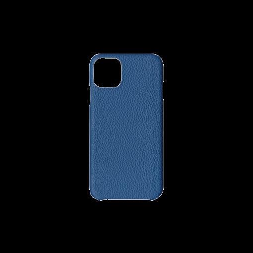 iPhone 11 Pro Max Carbon Case<br>German Shrunken Calf<br>Topaz Blue