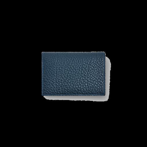 Business Card T Pouch Magnet<br>German Shrunken Calf×Goat<br>Imperial Blue×Red