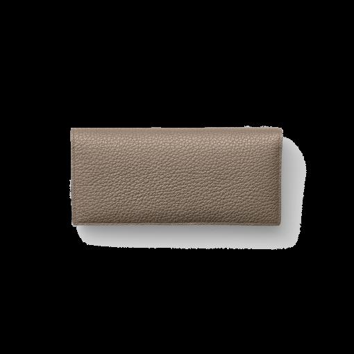 TT2 Wallet<br>German Shrunken Calf×Lamb<br>Tortora×Turquoise