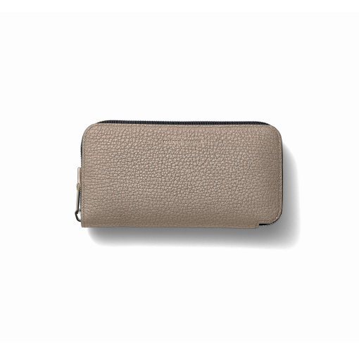 TT3 Wallet<br>German Shrunken Calf×Lamb<br>Tortora×Turquoise