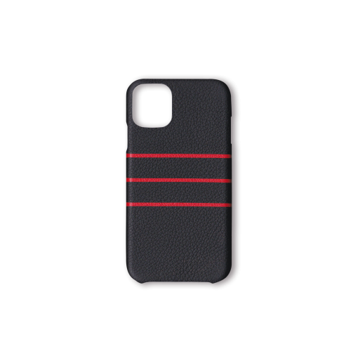 iPhone 11 Case/BD<br>French Crisp Calf×Goat<br>Black×Red