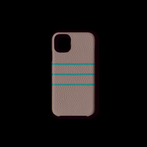 iPhone 11 Case/BD<br>German Shrunken Calf×Goat<br>Tortora×Turquoise