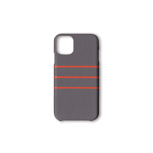 iPhone 11 Case/BD<br>German Shrunken Calf×Goat<br>Titanium×Orange