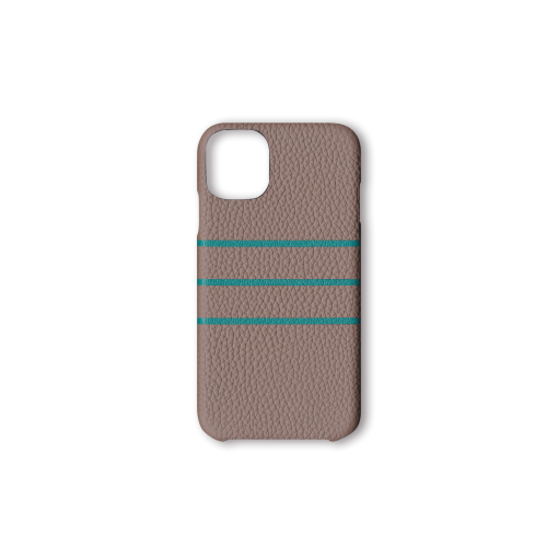 iPhone 11 Pro Max Case/BD<br>German Shrunken Calf×Goat<br>Tortora×Turquoise