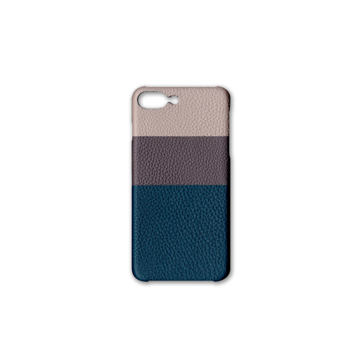 iPhone 7Plus&8Plus Case/BL<br>German Shrunken Calf<br>Platinum×Titanium×Ink Blue