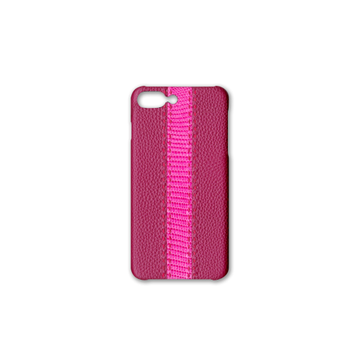 iPhone 7Plus&8Plus Case/SS<br>French Crisp Calf×Lizard<br>Indian Pink×Pink
