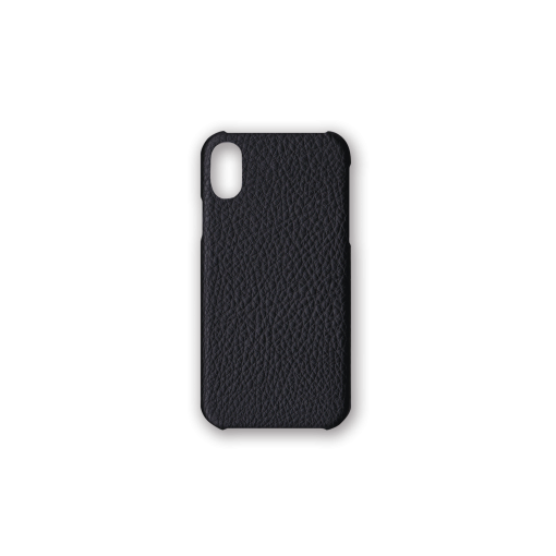 iPhone X&XS Case<br>German Shrunken Calf<br>Black
