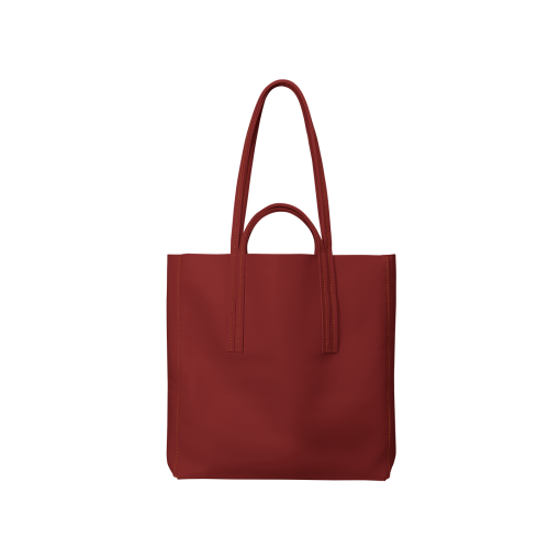 Double Handle Tote Bag<br>Soft Calf<br>Red