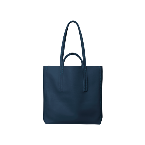 Double Handle Tote Bag<br>Soft Calf<br>Midnight Blue