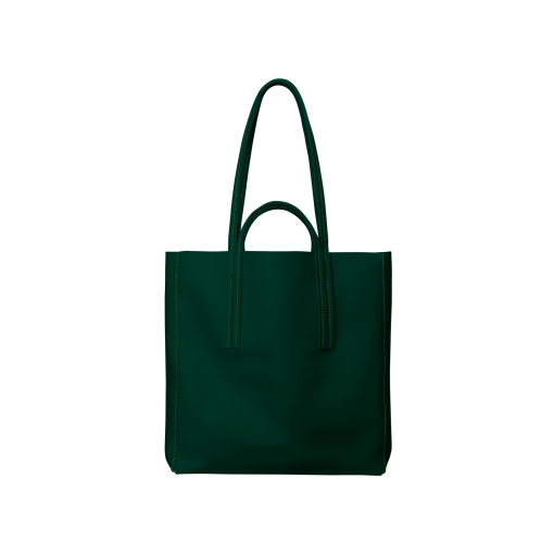 Double Handle Tote Bag<br>Soft Calf<br>Green