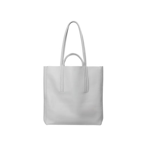 Double Handle Tote Bag<br>Soft Calf<br>White