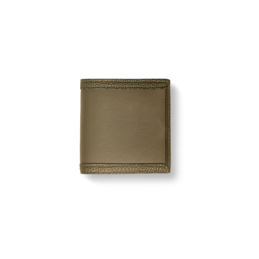 Compact Wallet with Coin Case2/CFR<br>Soft Calf (×Shrink Calf Frame)<br>Tortora