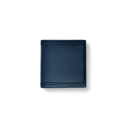 Compact Wallet with Coin Case2/CFR<br>Soft Calf (×Shrink Calf Frame)<br>Midnight Blue