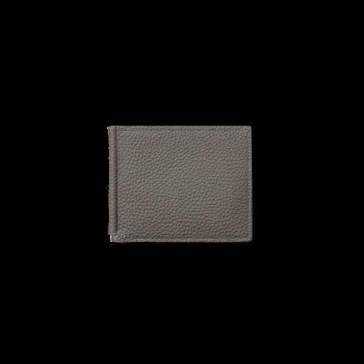 Clip Wallet<br>German Shrunken Calf×Lamb<br>Titanium×Orange