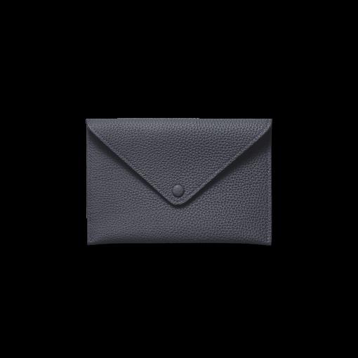 Smart Envelope(M)<br>German Shrunken Calf×Lamb<br>Midnight Blue×Midnight Blue