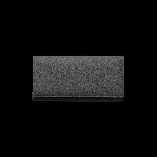 TT1 Wallet<br>German Shrunken Calf×Lamb<br>Black×Azure