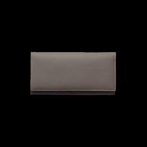 TT1 Wallet<br>German Shrunken Calf×Lamb<br>Titanium×Orange