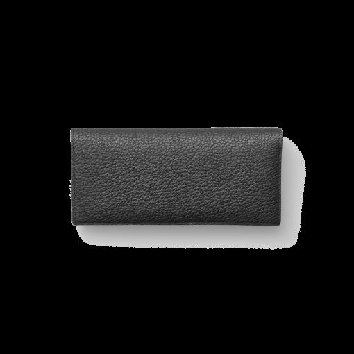 TT2 Wallet<br>German Shrunken Calf×Lamb<br>Black×Azure