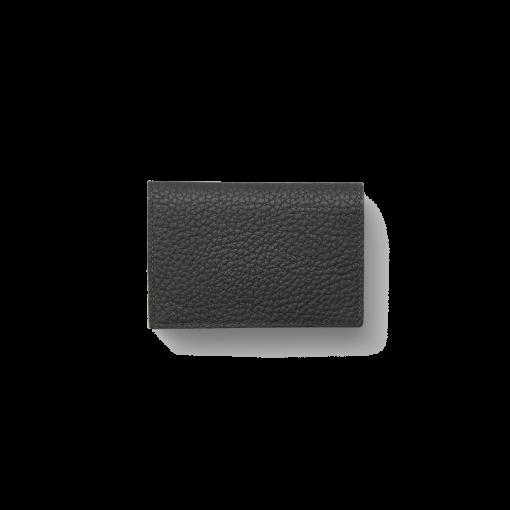 Business Card Pouch Magnet<br>German Shrunken Calf×Lamb<br>Black×Azure