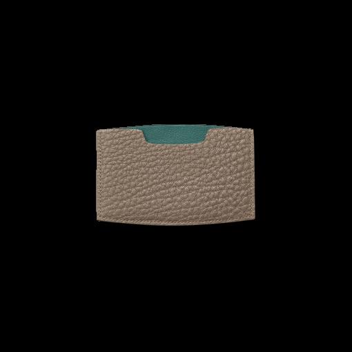 MN Card Holder<br>German Shrunken Calf×Lamb<br>Tortora×Turquoise
