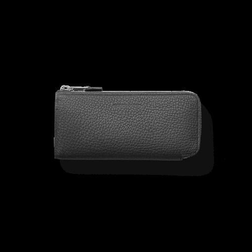 N2_TT6 Wallet<br>German Shrunken Calf×Lamb<br>Black×Azure