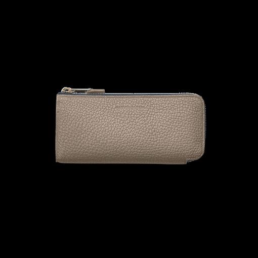 N2_TT6 Wallet<br>German Shrunken Calf×Lamb<br>Tortora×Turquoise