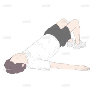 膝関節90°屈曲位からの両脚ヒップアップ(Sサイズ)