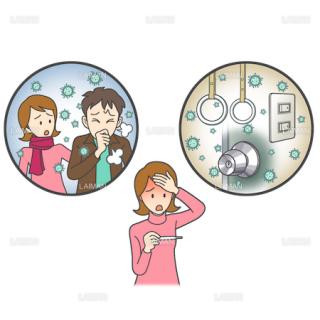 患者イラスト インフルエンザウイルス(Sサイズ)