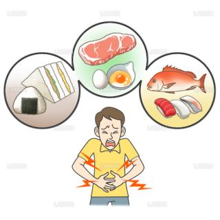患者イラスト 細菌性食中毒(Sサイズ)