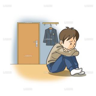 患者イラスト 季節性感情障害(Mサイズ)