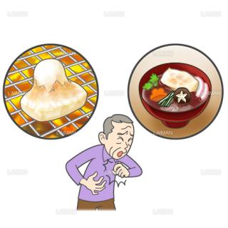患者イラスト 餅を喉に詰まらせる窒息事故(Mサイズ)