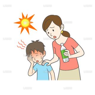 患者イラスト 熱中症(Mサイズ)
