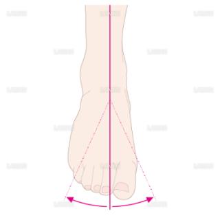 下肢(足部)の外転と内転(Sサイズ)