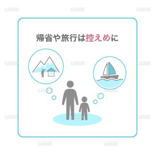 【新しい生活様式】帰省や旅行は控えめに(タイプ1・Mサイズ)