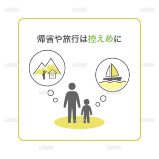【新しい生活様式】帰省や旅行は控えめに(タイプ2・Mサイズ)