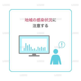 【新しい生活様式】地域の感染状況に注意する(タイプ1・Mサイズ)